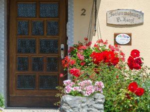 Der Eingangsbereich unserer Ferienwohnung in Obernsees in der Fränkischen Schweiz.